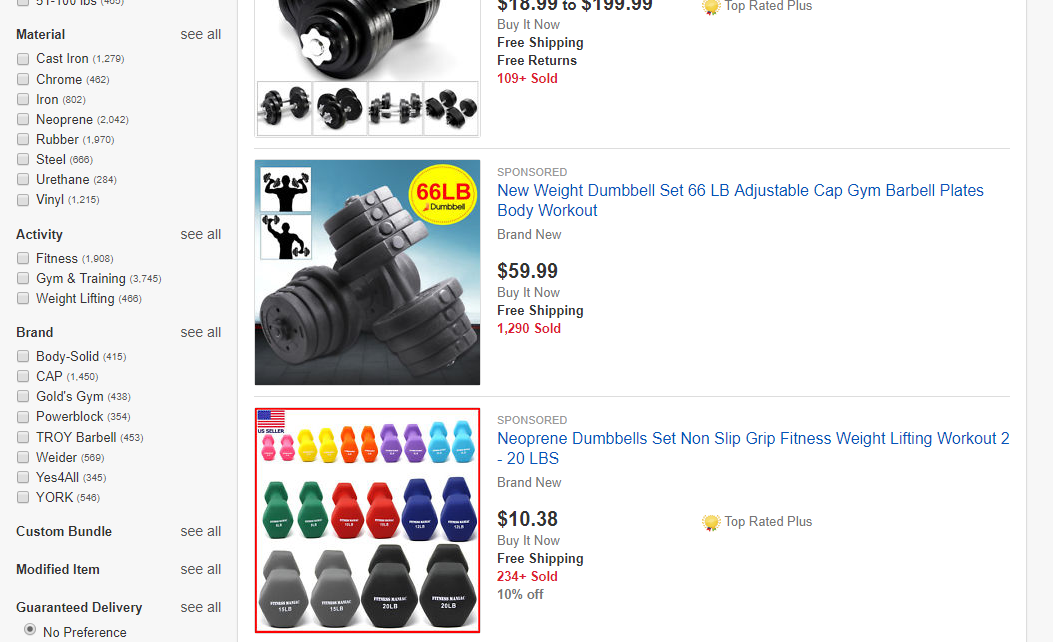 eBay Promoted Listings in Listing-Based Search