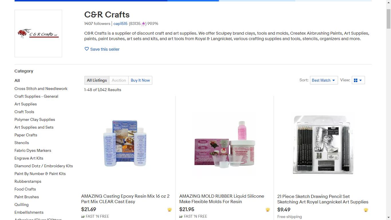 C&R Crafts eBay Store
